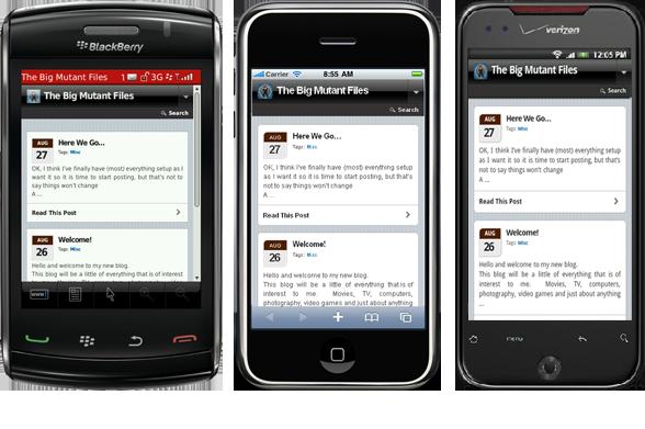Blog on the SmartPhones